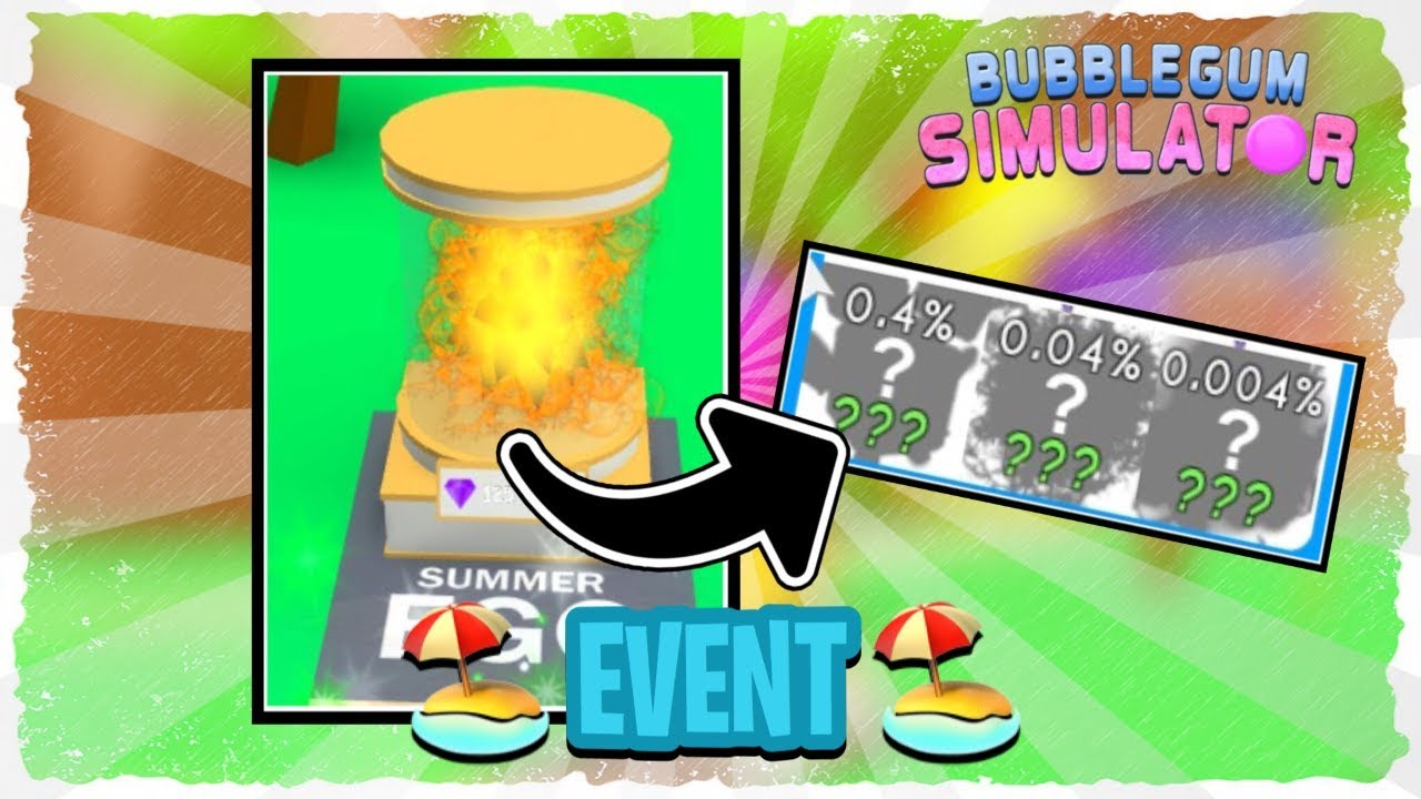 UPDATE 26 SUMMER EVENT BUBBLE GUM SIMULATOR! NEW EGG, 9 NEW PETS, AND A SECRET PET!