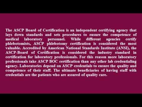 ASCP Phlebotomy Certification - YouTube