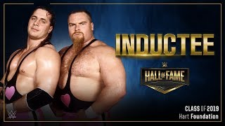 The Hart Foundation join the WWE Hall of Fame Class of 2019