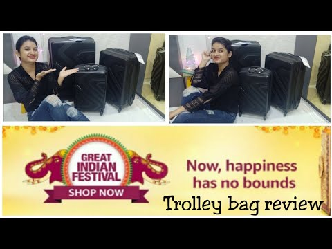 Trolley Bag Review | Great Indian Festival Sale | Kamiliant by American Tourister | Poonam 🌙 Ahire