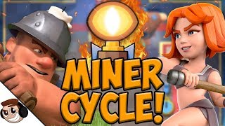 My FAVORITE Miner Cycle Deck! | Clash Royale