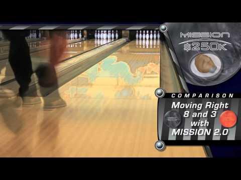 Ebonite Mission 250k Bowling Ball filmed at 60fps in 720p HD.mov