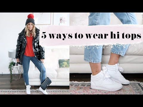 5 WAYS TO WEAR HI TOP TRAINERS | Fashion Slave // Sophie Milner