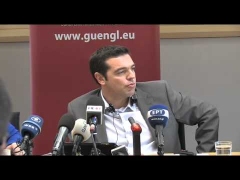 European Parliament - Alexis Tsipras,Syriza economic and social situation in Greece