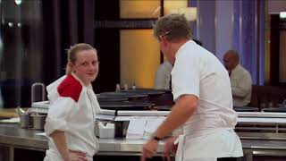 Chef Can't Slice Her Lamb | Hell's Kitchen