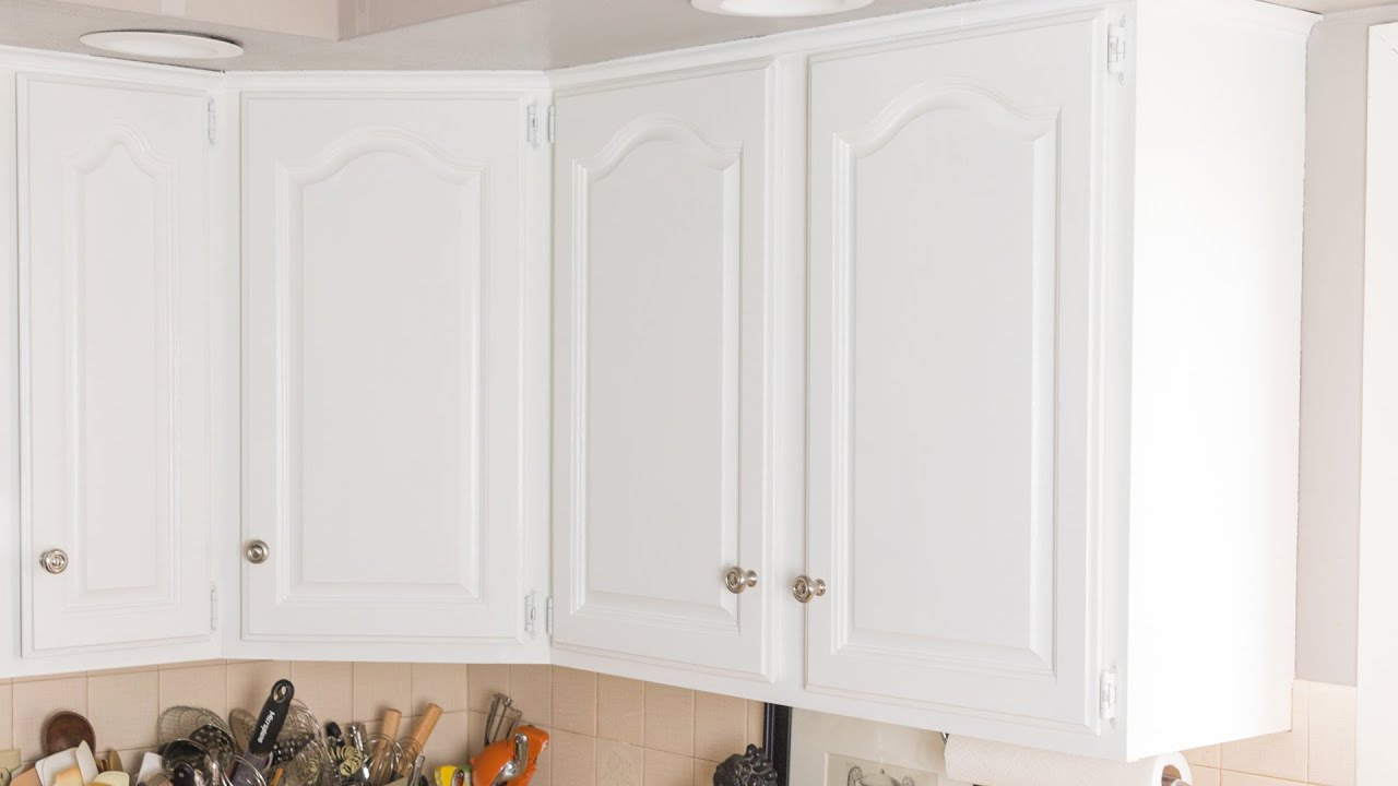 paint kitchen cabinets white light table how to youtube