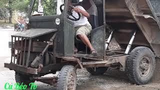 Xe công nông chở cát đá đổ ben ❤. Nhạc thiếu nhi. Farm vehicle.