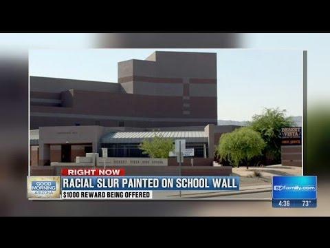 Desert Vista High School vandalized by graffiti containing racial slur