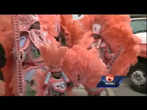 Mardi Gras Indians kick off Fat Tuesday celebrations in Lower Ninth Ward