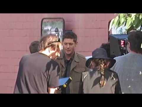 SPN 13x03 On Set: Protective Jensen/Dean