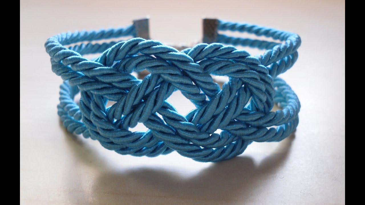 Diy Pulsera Nudo Marinero Sailor Knot Bracelet Youtube