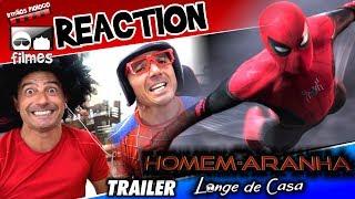 🎬 Homem-Aranha Longe de Casa - Reaction Trailer 1 - Irmãos Piologo Filmes