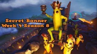 Secret Banner Week 4 Season 8-Fortnite (hidden banner Season 8 week 4)