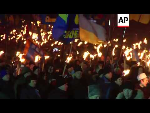 15,000 nationalists march in Kiev to commemorate leader Stepan Bandera