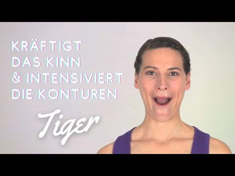 TIGER / Diese Übung kräftigt dein gesamtes Kinn und intensiviert die Konturen.