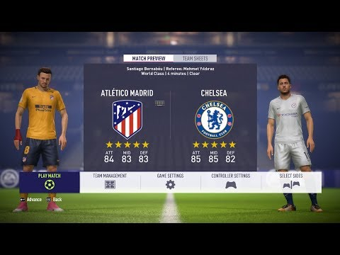 FIFA 18 - Atletico Madrid Vs Chelsea Gameplay - UEFA Champions League Group C