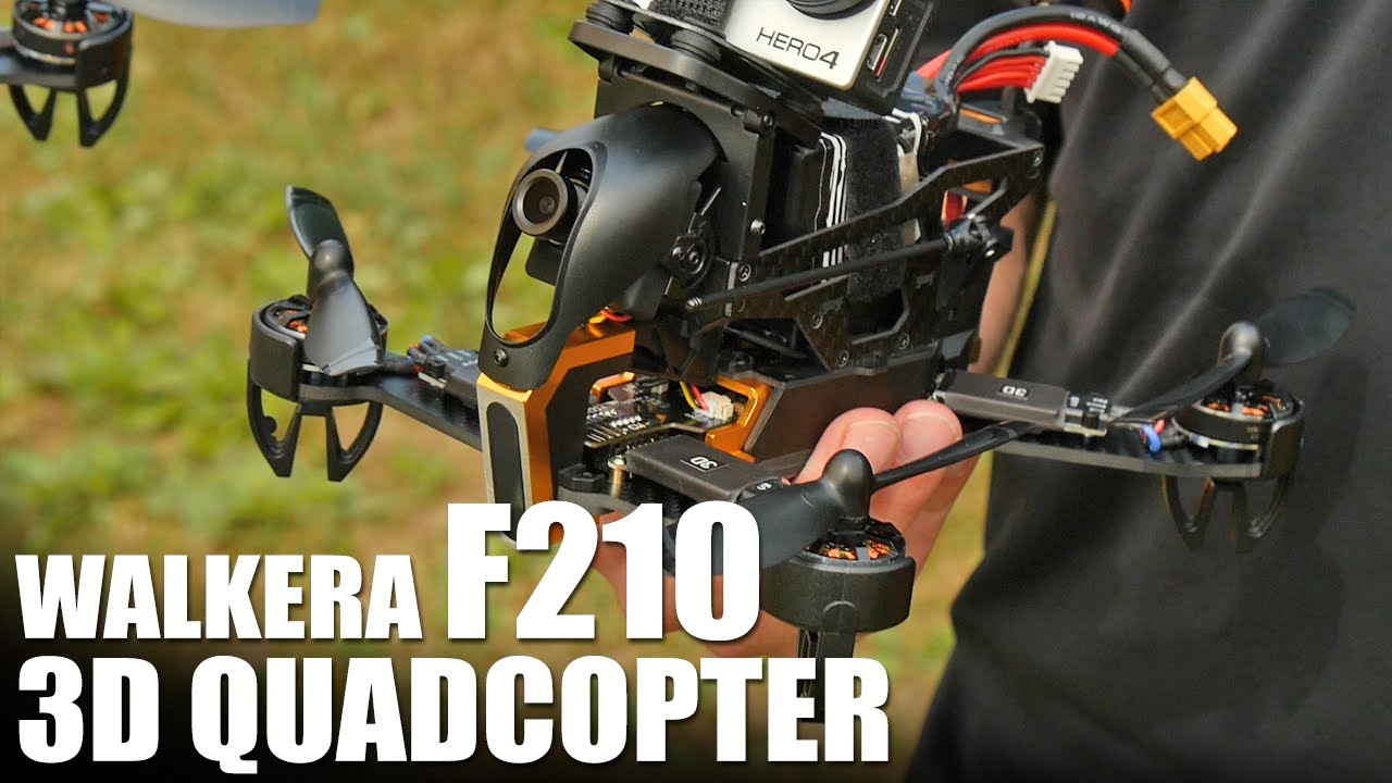 Jun 17, 2016. Walkera's f210 3d is a wickedly quick racer in a box, built to take some. To have to buy an aftermarket f210 camera mount or build it yourself.