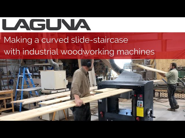 Making a curved slide-staircase with industrial woodworking machines | Customer Stories