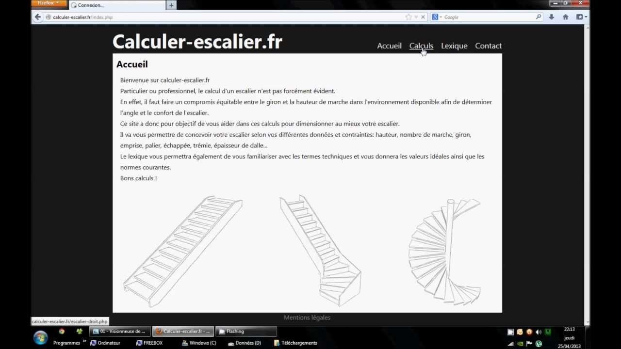 calculer un escalier droit exemple n 1 youtube. Black Bedroom Furniture Sets. Home Design Ideas