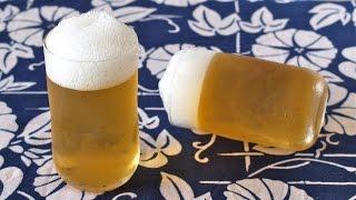Beer-Like Apple Juice Jelly (2-Ingredient Mock Beer) ビールのようなりんごゼリー OCHIKERON - CREATE EAT HAPPY