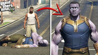 FRANKLIN steals SUPER POWERS from THANOS (GTA 5 Mods)