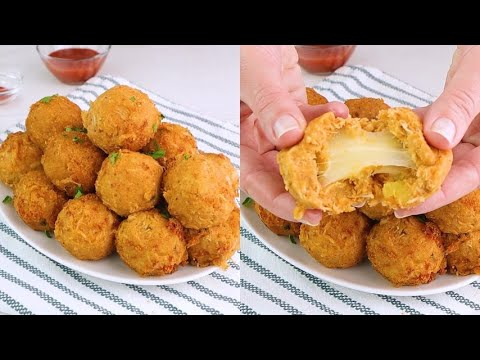 Chicken balls cheesy and irrestistible ready in a few steps