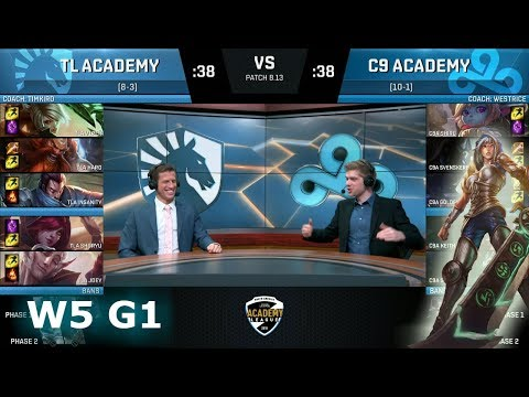Team Liquid Academy vs Cloud 9 Academy | Week 5 NA Academy League Summer 2018 | TLA vs C9A
