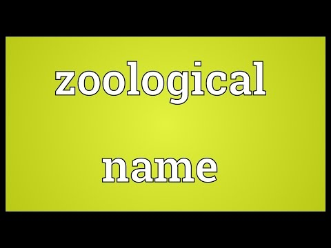 Zoological name Meaning