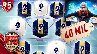 OMG MOST OVERPOWERED SQUAD IN FIFA EVER! 40 MILLION COINS!! FIFA 19 Ultimate Team RTG #95