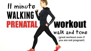 WALKING WORKOUT - Indoors Prenatal 11 minute walk and tone, suitable for every trimester