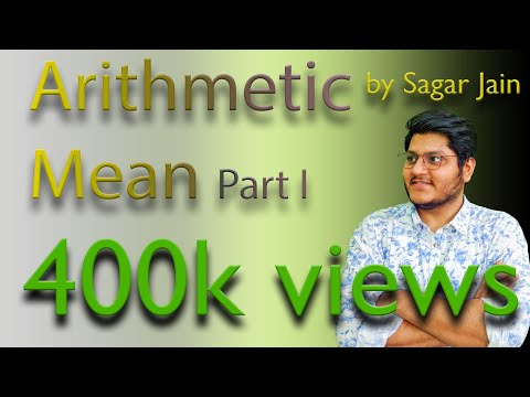 Arithmetic Mean Part 1   Statistics