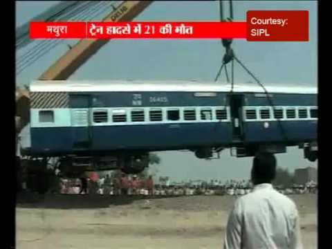 Mathura mishap: cranes used for removing train bogies