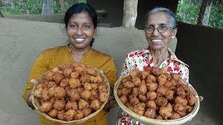 Village Food ❤ Crispy Potato and Semolina Balls prepared by Grandma and Daughter   Village Life