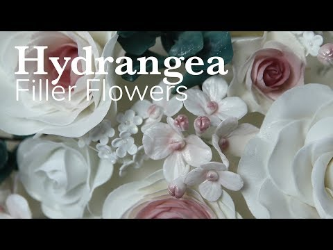 How to Make Filler Hydrangea Flowers | Global Sugar Art