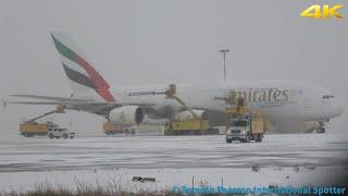 [4K] Deicing! Emirates A380-861 [A6-EEO] Takeoff-RWY 06L (Toronto Pearson) 1/19/2019