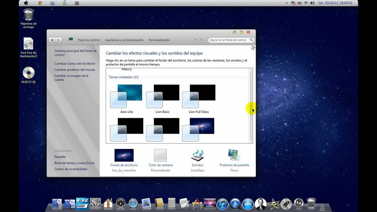 tema de mac para windows 7