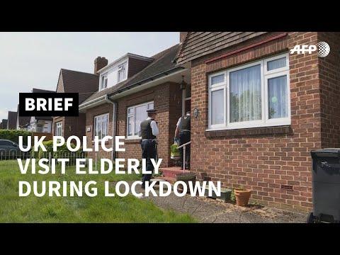 UK Police visit elderly during lockdown | AFP