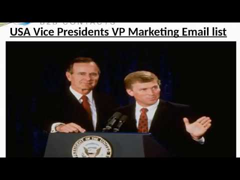 USA Vice Presidents VP Marketing Email list