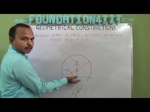 How to Construct Triangle When Base , Vertical angle and Altitude are given