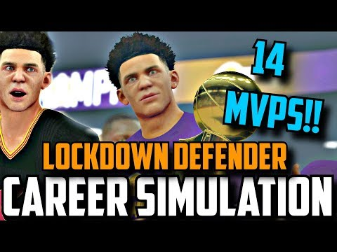 SIMULATING LONZO BALL'S NBA CAREER IN NBA2K17!!(14 MVPS!! 13 DPOY!!) (2017-2036)