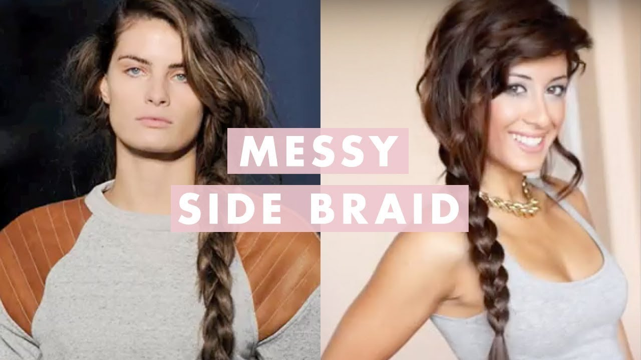 messy side braid - inspired by alexander wang