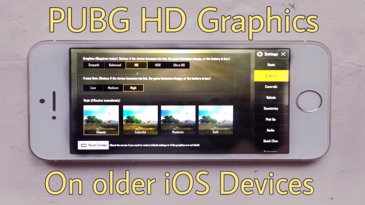 Unlock PUBG HD Graphics For Older IOS Devices (Jailbreak
