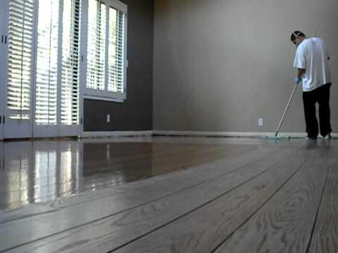 Coating Hardwood Floor With Oil Finish Youtube