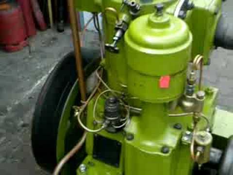 bolinder eskilstuna hotbulb semi diesel engine - YouTube
