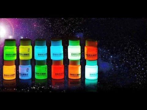 Как называется краска светящаяся в темноте