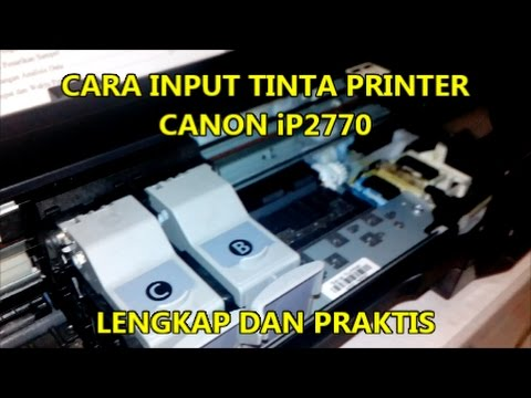 Cara Mengisi Tinta Printer Canon MG2570S.