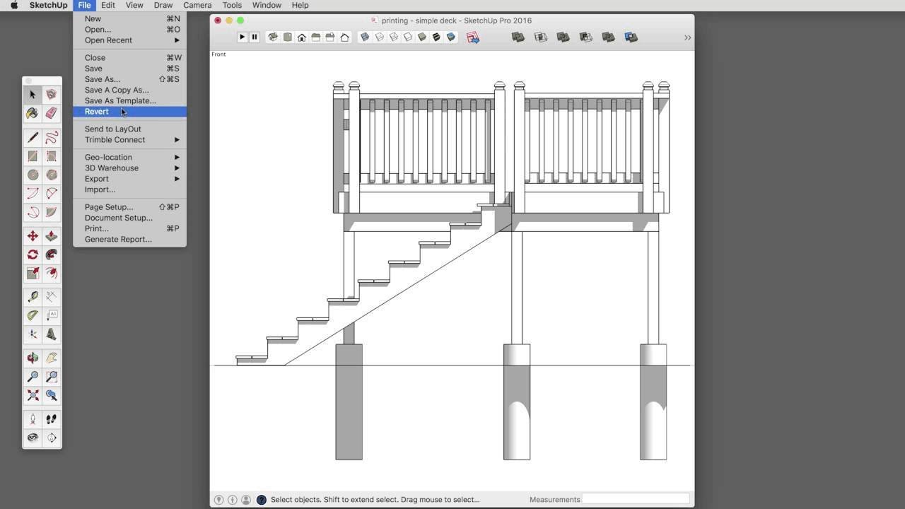 sketchup skill builder printing to scale with sketchup make youtube. Black Bedroom Furniture Sets. Home Design Ideas