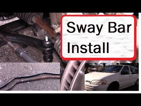 How to Install a Sway Bar / Stabilizer Bar Oldsmobile Silhouette (Venture Montana Others GM)