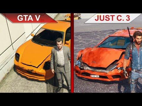 THE BIG GTA V vs. JUST CAUSE 3 SBS COMPARISON | PC | ULTRA