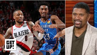 Damian Lillard and the Blazers are attacking OKC with discipline and focus –Jalen Rose | Get Up!